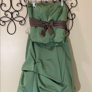 Green two piece dress